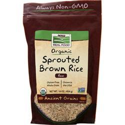 Now Organic Sprouted Brown Rice 16 oz