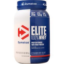 Dymatize Nutrition Elite 100% Whey Protein Strawberry Blast 2 lbs