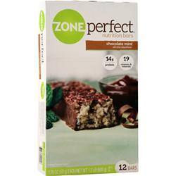 Zone Perfect Nutrition Bar Chocolate Mint BEST BY 2/1/20 12 bars