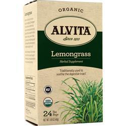 Alvita Tea Bags - Organic Lemongrass 24 pckts