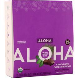 Aloha Organic Protein Bar - Plant Based Chocolate Fudge Brownie 12 bars