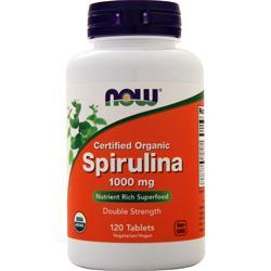 Now Spirulina - Certified Organic (1,000mg) 120 tabs