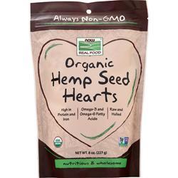 Now Organic Hemp Seed Hearts 8 oz