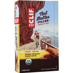 Clif Bar Nut Butter Filled Energy Bar Banana Chocolate PB BEST BY 2/1/20 12 bars
