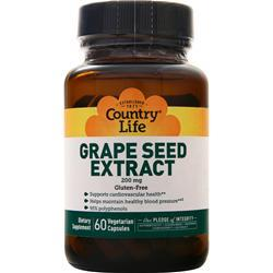 Country Life Grape Seed Extract (200mg) 60 vcaps