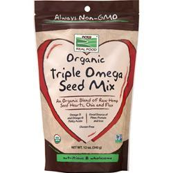 Now Organic Triple Omega Seed Mix  BEST BY 9/19 12 oz