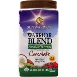 SunWarrior Warrior Blend - Plant Based Organic Protein Chocolate 750 grams