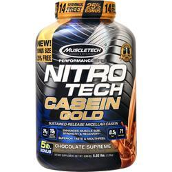Muscletech Nitro Tech Casein Gold - Performance Series Chocolate Supreme 5.02 lbs