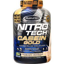 Muscletech Nitro Tech Casein Gold - Performance Series Creamy Vanilla 5.04 lbs