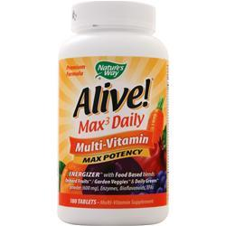 Nature's Way Alive! Max3 Daily Multi-Vitamin - Max Potency 180 tabs
