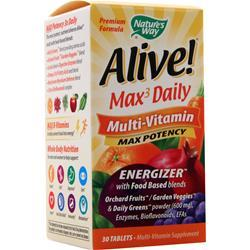 Nature's Way Alive! Max3 Daily Multi-Vitamin - Max Potency 30 tabs
