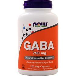 Now GABA (750mg) 200 vcaps