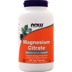 Now Magnesium Citrate 240 vcaps