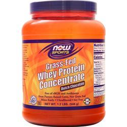 Now Grass-Fed Whey Protein Concentrate Dutch Chocolate 1.2 lbs