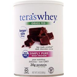 Tera's Whey Grass Fed Simply Pure Whey Protein Dark Chocolate Cocoa 24 oz