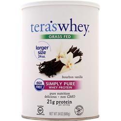 Tera's Whey Grass Fed Simply Pure Whey Protein Bourbon Vanilla 24 oz