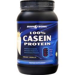 BodyStrong 100% Casein Protein Creamy Vanilla 2 lbs