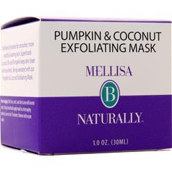 Mellisa B Naturally Pumpkin & Coconut Exfoliating Mask 1 oz
