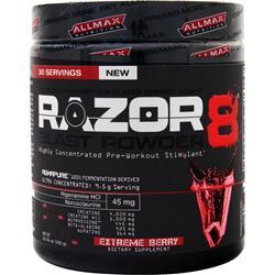 Allmax Nutrition Razor8 Blast Powder (Buy one Get one Free) Watermelon 570 grams