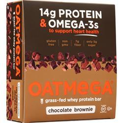 Boundless Nutrition Oatmega Grass Fed Whey Protein Bar Chocolate Brownie 12 bars