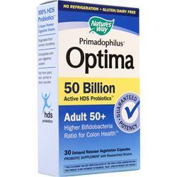 Nature's Way Primadophilus Optima 50 Billion - Adult 50+ 30 vcaps
