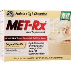 Met-Rx Meal Replacement Drink Mix Original Vanilla 40 pckts