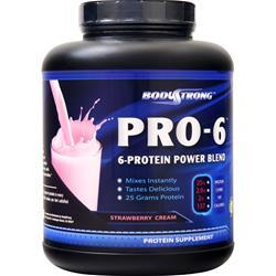 BodyStrong Pro-6 Protein Power Blend Strawberry Cream 5 lbs