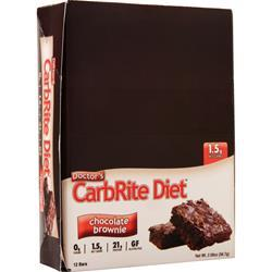 Universal Nutrition Doctor's Diet CarbRite Bar Chocolate Brownie 12 bars