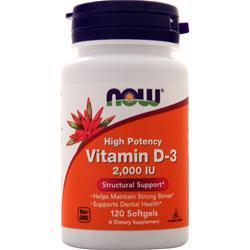 Now Vitamin D-3 (2000IU) 120 sgels