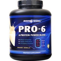 BodyStrong Pro-6 Protein Power Blend Creamy Vanilla 5 lbs