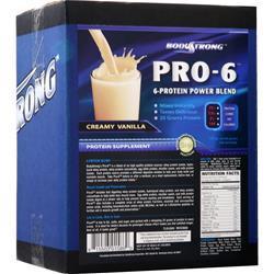 BodyStrong Pro-6 Protein Power Blend Creamy Vanilla 10 lbs
