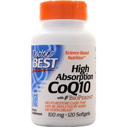 Doctor's Best High Absorption CoQ10 w/ Bioperine (100mg) 120 sgels