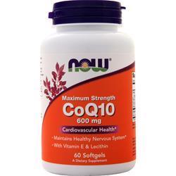 Now CoQ10 (600mg) 60 sgels