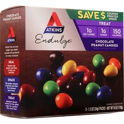 Atkins Endulge Candy Chocolate Peanut Candies 5 pckts