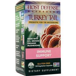 Host Defense Turkey Tail Mushrooms - Immune Support 120 vcaps
