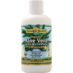 Dynamic Health Aloe Vera 100% Juice with Micro Pulp (Organic) Unflavored 32 fl.oz