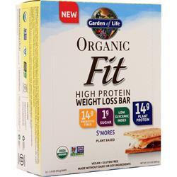 Garden Of Life Organic Fit - High Protein Weight Loss Bar S'mores 12 bars