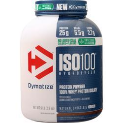 Dymatize Nutrition ISO-100 Natural Chocolate Sweetened with Stevia 5 lbs