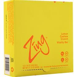 Zing Vitality Bar Lemon Cashew Crunch 12 bars