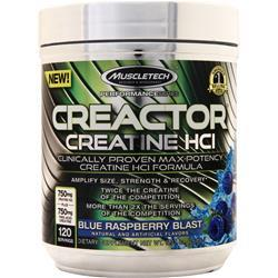 Muscletech Creactor - Performance Series Blue Raspberry Blast 264 grams