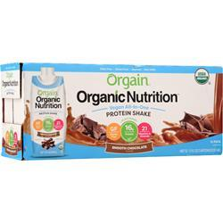 Orgain Organic Nutrition Vegan All-In-One Protein Shake RTD Smooth Chocolate EXPIRES 1/25/19 12 pack