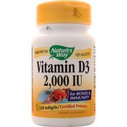 Nature's Way Vitamin D3 (2000IU) 120 sgels