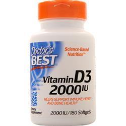 Doctor's Best Vitamin D3 (2000IU) 180 sgels