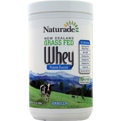 Naturade New Zealand Grass Fed Whey Vanilla BEST BY 8/19 16.1 oz