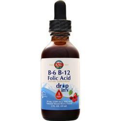 KAL B-6 & B-12 Folic Acid Drop In's Natural Mixed Berry 2 fl.oz