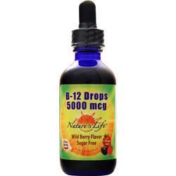 Nature's Life B-12 Drops (5000mcg) Wild Berry 2 fl.oz