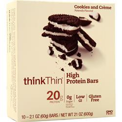 Think Thin High Protein Bar Cookies and Creme 10 bars