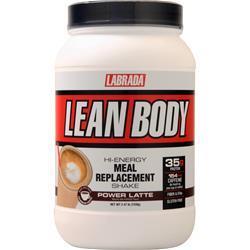 Labrada Lean Body Hi-Energy Meal Replacement Shake Power Latte 2.47 lbs