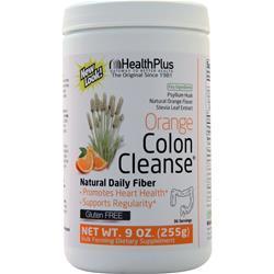 Health Plus Colon Cleanse Powder Sweetened with Stevia  Natural Orange 9 oz