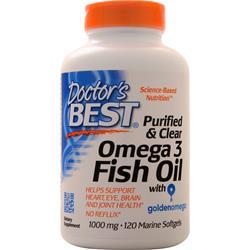Doctor's Best Purified & Clear Omega 3 Fish Oil 120 sgels